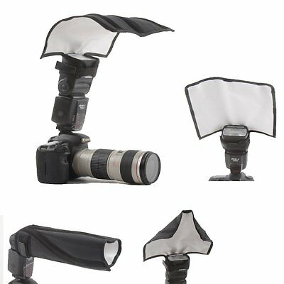Photography Foldable Flash Reflector Snoot Diffuser Softbox for Nikon Canon Sony