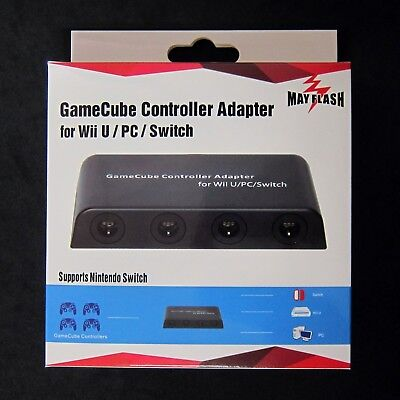 New MAYFLASH 4 Ports Wii U GC GameCube Controller Adapter for Wii U & To PC USB