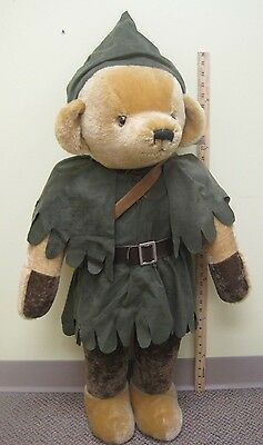 HUGE Vintage Merrythought Mohair Bear Robin Hood Almost 3 Ft Tall Store Display
