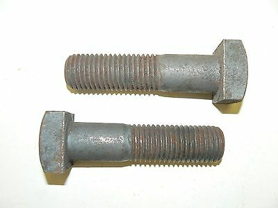 "1""-8 x 4"" Square Head Machine Bolts - Plain Steel - Grade 5 - Lot of 8 Pcs."