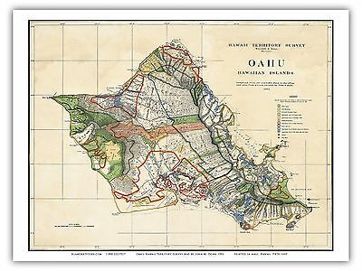 image regarding Maui Map Printable identified as 1956 Typical MAP - Hawaiian Islands - Oahu, Kauai, Maui