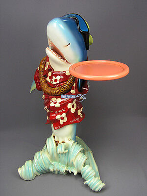 Hai Shark Butler Figur Statue Hawaii Beach Party Tiki Dekoration Deko Bar Neu