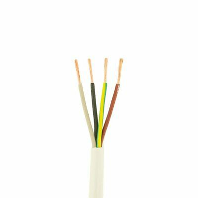 White flex 1mm 4 Core 3184Y Round Flexible Cable Wiring Lighting Heating Power