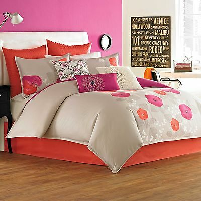 Dream By Blissliving Home Malia STANDARD SHAM Coral Pink Grey