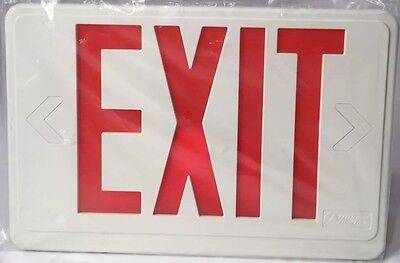 New Lithonia EXIT SIGN RED TRANSPARENT Hard Plastic Replacement Cover