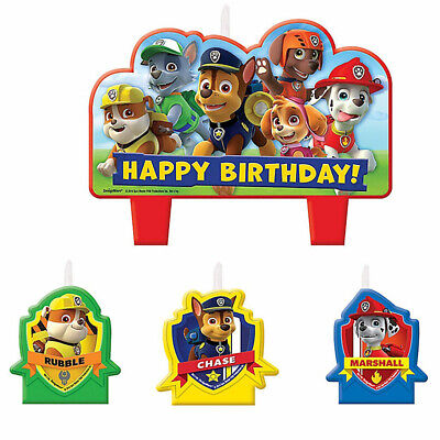 Paw Patrol Mini CANDLE Set Cake Decoration- Birthday Party Supplies Cake Toppers
