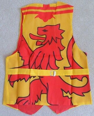 Scotland Scottish Rampant Lion Flag Waistcoat Tailor Made Lined Mens Small