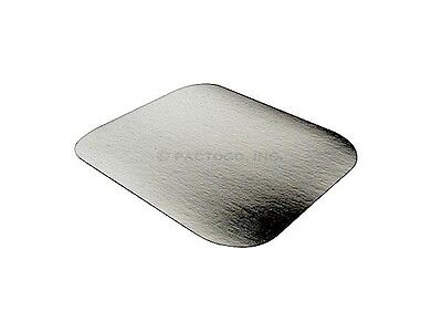 Foil Laminated Board Lid for 1 lb. Oblong Aluminum Containers 50/PK - LIDS ONLY