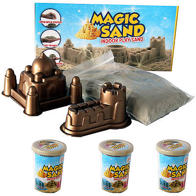 Magic Sand IndoorPlay Sand kinetischer Sand 525 Gramm + Formen