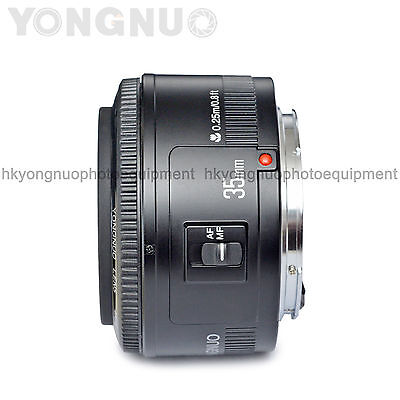 Yongnuo EF 35mm F/2 Lens 1:2 AF / MF Wide-Angle Prime Lens for Canon EOS Camera