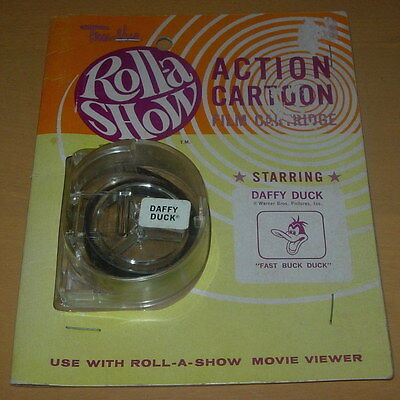 Tru-Vue  Roll-A Show  Action Cartoon Film Cartridge  Sealed On Card  C. 1960