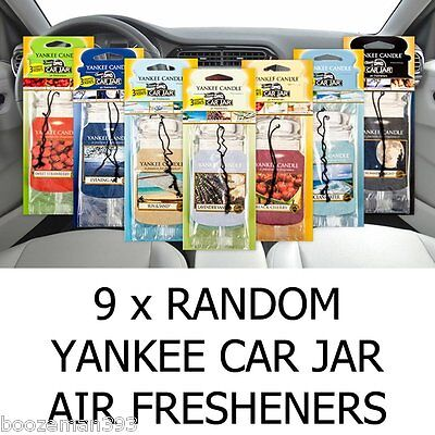 9 x Yankee Candle Car Jar Air Fresheners - 33% OFF - AMAZING MIXED VALUE PACK