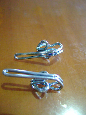 CURTAIN HOOKS 28mm FOR PENCIL PLEAT TAPES  x 100