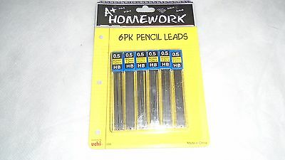 """.5mm { 72 pc } MECH. PENCIL LEAD REFILLS LEADS HB=MED HARDNESS 66 mm/2.375"""" LONG"""