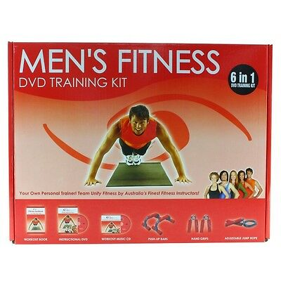 Men's Fitness 6-in-1 DVD & Training Kit- SYD Stock