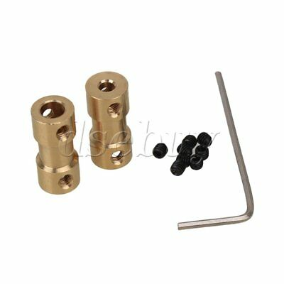 2pcs 3.17mm to 5mm Shaft Coupling Motor Connector Brass Joint For RC With Screws