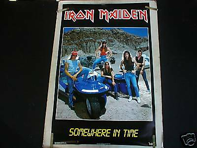 Rare Iron Maiden Somewhere In Time 1986 Vintage Poster