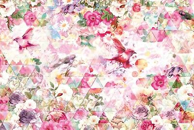 Wall Mural photo Wallpaper 368x254cm Abstract flowers composition Mixed colours