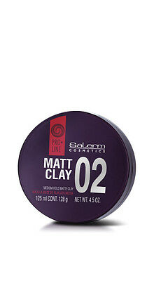 Salerm Matt Clay 02 125 ml / 4.5 OZ. Arcilla Mate De Fijación Media