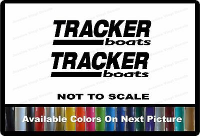 "2 Tracker Boat Decals Left & Right 22"" x 5"" Custom Vinyl Decals"