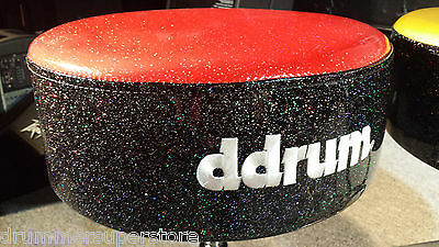 dDrum Drum Throne Mercury FAT Throne Red Top Black Sparkle Sides