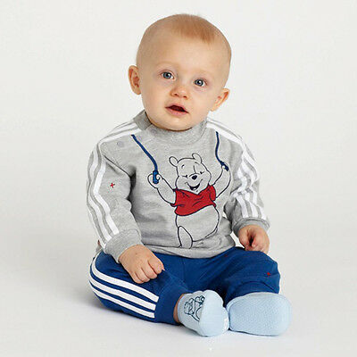2pcs Boy Set Baby Tops+Pants Kids Outfit Children Clothes 0-24 M Winnie the Pooh