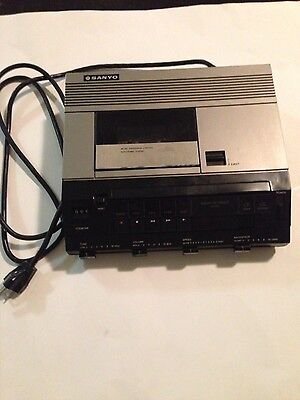 Vintage Sanyo TRC9010 Cassette Tape Recorder Player Transcription Equipment