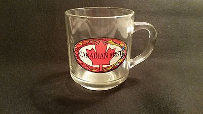 Canadian Mist Mug Liquor Whiskey Promo Glass Mug Collectible Barware Drink Cup
