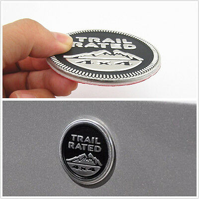 Metal Black 3D Trail Rated 4x4 Badge Logo Car Fenders Decorative Sticker For SUV