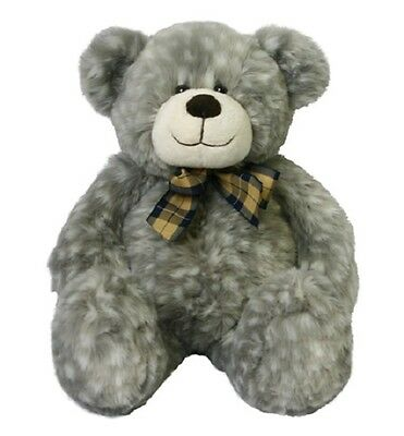 Korimco - Motley Grey Teddy Bear 47cm  -  BRAND NEW