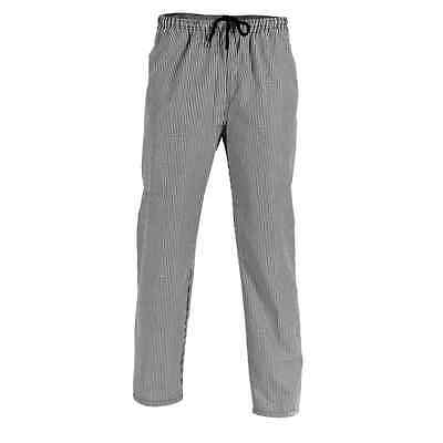 DNC Drawstring Chefs Trousers, Unisex, Checked, Size L