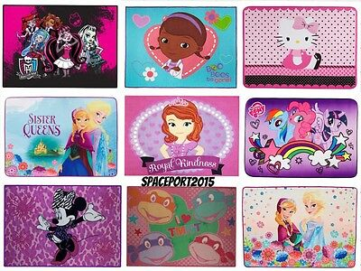 Kids Bed Room DECOR RUG Girls TV Movie Disney Comics Characters Bedding Playroom