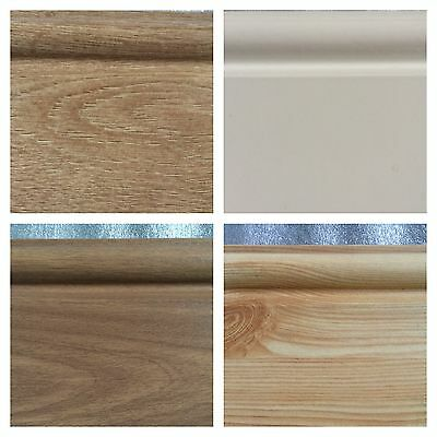 Oak Effect Skirting Board For Laminate And Solid Wood Floors