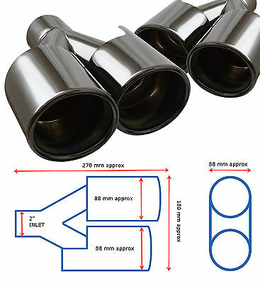 Universal Stainless Steel Black Edition Exhaust Quad Tailpipe – Bmw 2