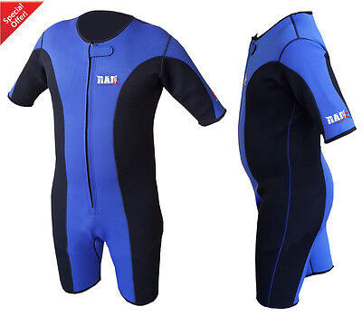 Heavy Duty RAD™ Sauna Sweat Suit Gym Boxing MMA Weight Loss Slimming Shorts Blue