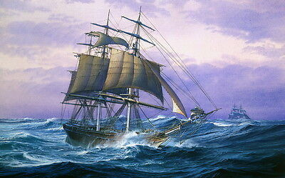 Best gift Ship Sailing Oil painting Art wall Picture Printed on canvas 16x24 P1