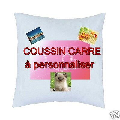 customizable square cushion cover with text and photo