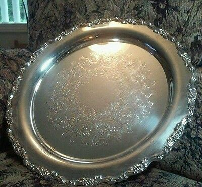 Wm rogers 14 inches silver tray