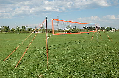 MVPro Sports - Portable Beach Volleyball System - ORANGE - Professional Quality