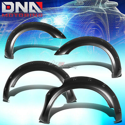 For 05-12 Frontier Extended/crew Cab Fender Wheel Flares Riveted Black Textured