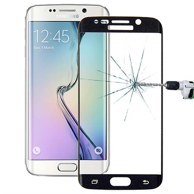 New Samsung Galaxy S6 Edge Curved Full Glass Tempered 3D Screen Protector Black