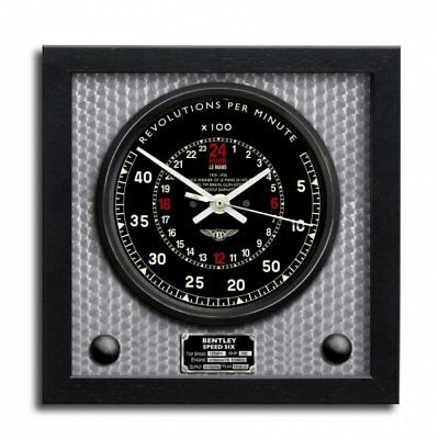 24 Hour Art Print Wall Clock Bentley Speed 6 Le Mans 1929/1930
