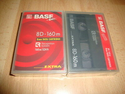 8 Mm Data Cartridge 8D - 160 M By Basf Made In Japan New Factory Sealed