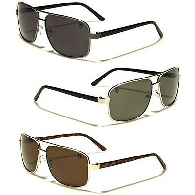 020ce3e98f55 Square Retro 80s Aviator Sunglasses Khan Mens Womens Fashion Glasses Black  Gold