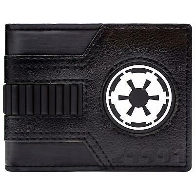 New Official Cool Star Wars Galactic Alliance Black Bi-Fold Wallet