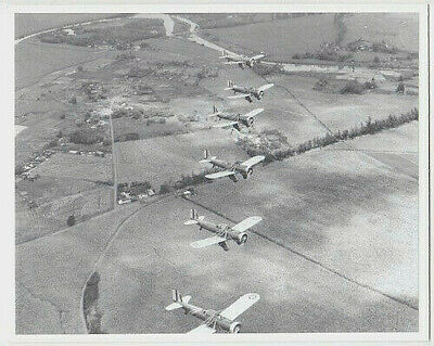"RYAN PT-22 AIRCRAFT 1940's OVER HALEIWA, OAHU HAND PRINTED PHOTO ON 8X10"" MAT"