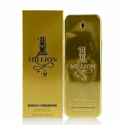 Paco Rabanne 1 One Million  200ml EDT Spray Authentic New Boxed & Sealed