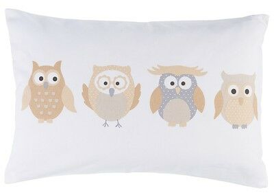 Kissenbezug Little Owl Kid's Club Eulen beige 35 x 50 cm 196288