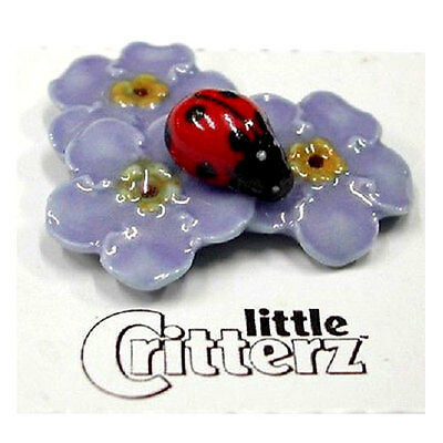 LITTLE CRITTERZ Porcelain Miniature Figurine LC974 FORGET ME NOT THE LADYBUG
