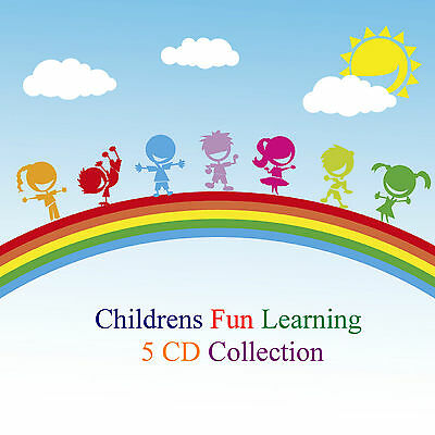 Learn Times Tables The Alphabet 100 Nursery Rhymes & Childrens Songs 5 Fun CDs